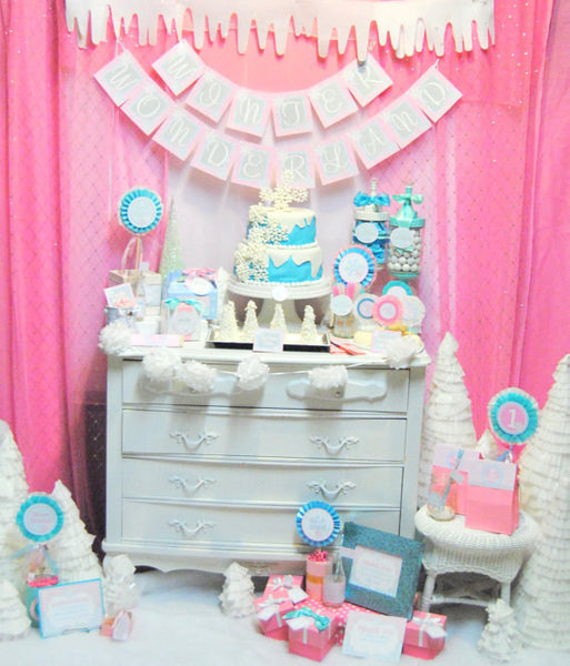 WINTER ONEderland- COMPLETE- Birthday Party- Baby- First Birthday- INSTANT DOWNLOAD