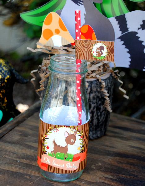 WOODLAND Party- Woodland Baby Shower- Fox Party - FLAGS