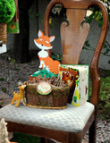 WOODLAND Party- Woodland BABY SHOWER-Fox- RIBBON BANNER