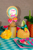 FLAMINGO Party - Flamingo Printables -Flamingo Birthday - Flamingo THANK YOU TAGS - Pineapple - Luau Party