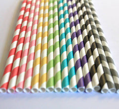 Color Swirl Eco Straws