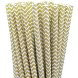 Gold Jagged Stripe Eco Straws