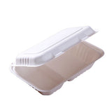 1000ml Bagasse Double Compartment Take Away Lunch Box