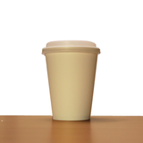 12oz White Compostable Paper Cup with Lid