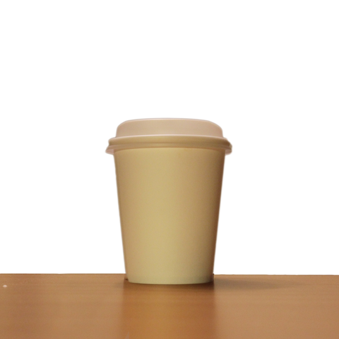 8oz White Compostable Paper Cup with Lid