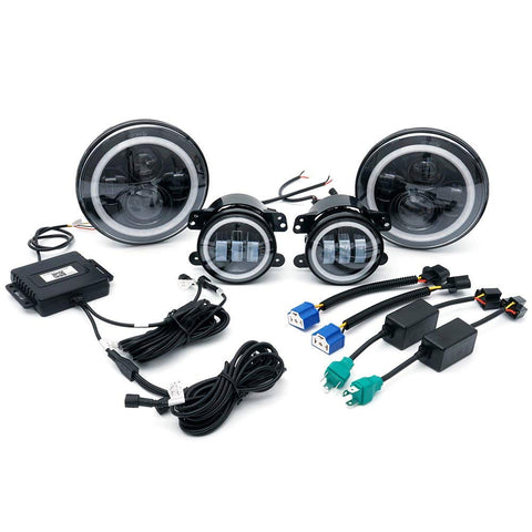 "Image of  7"" LED Headlights / LED Fog Light - Multi color Combo, , SUITECH, SUITECH - SUITECH"