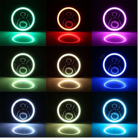"Image of  7"" LED Headlights - Multicolor - Reconditioned - Heavily Discounted, , SUITECH, SUITECH - SUITECH"