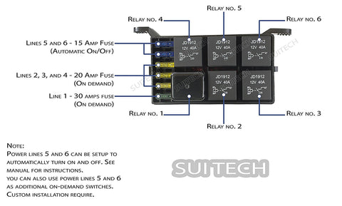 Image of  Jeep Wangler (JK/JKU) Control Box - 4 Switch Electronic Relay System Module, Electronic, SuiTech, SUITECH - SUITECH