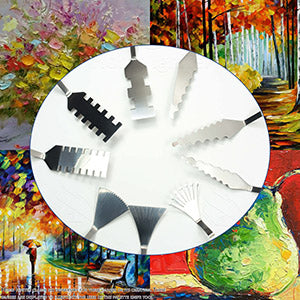 Stainless Steel Palette Knives For Artists - 9 Piece of Spatulas For FX Special Effects - Thin and Flexible Art Tools For Oil Painting, Acrylic Mixing, Etc., , SUITECH, SUITECH - SUITECH