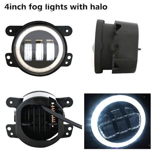 LED Fog Lights with Daytime Running Light (HALO), LED, SuiTech, SUITECH - SUITECH