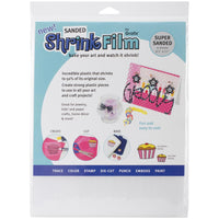 "Shrink Film by Grafix - Super Sanded - 6 sheets - 8.5""x11"""