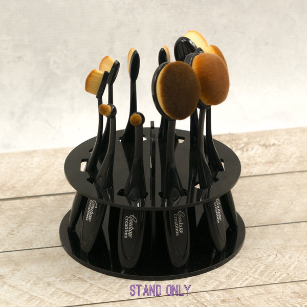 Blending Brush Stand (holds 10) black acrylic