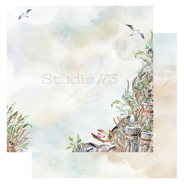 Studio 73 Seaside Serenity - Rock Wall 12x12 d/s Patterned Paper 557346
