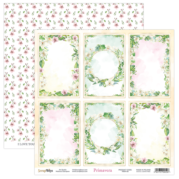 ScrapBoys - Primavera - 12x12 double-sided Patterned Paper (PRIM-06)