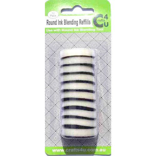 Crafts4U - Round Ink Blending Tool -  Foam Refills (10) pack (10052)