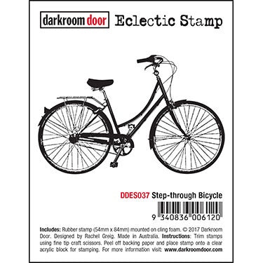 Darkroom Door Eclectic Stamp - Step-through Bicycle (DDES037)
