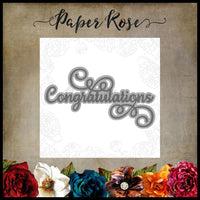 Paper Rose Studio Layered Congratulations Metal Cutting Die Set 17646
