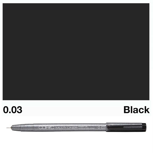Copic Multiliner 0.03 Black