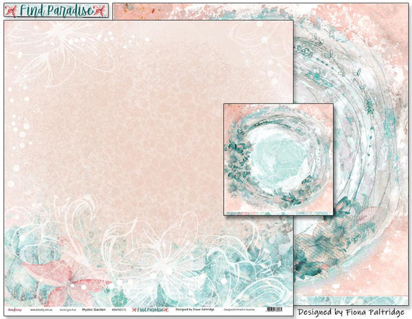 Bee Arty - Colour Blast - Find Paradise - Pattern Paper - Mystic Garden
