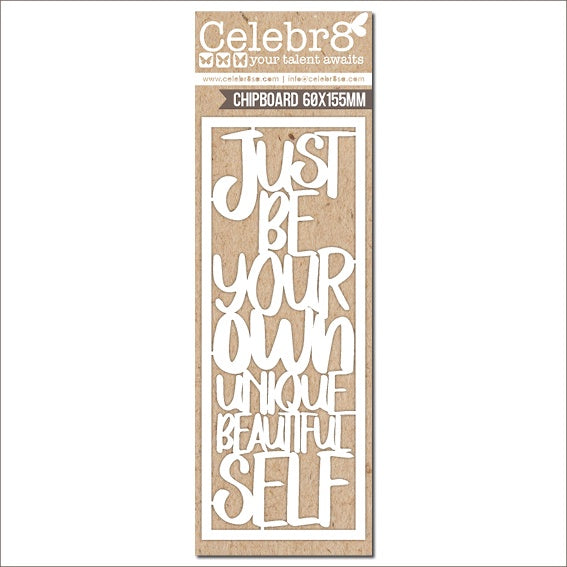 Pre-Order Celebr8 Ivory Chipboard - Stargazer Just be your own  MB1612
