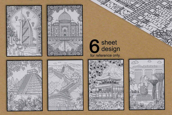 Colouring Sheets - Pack 5 (6 Piece set)