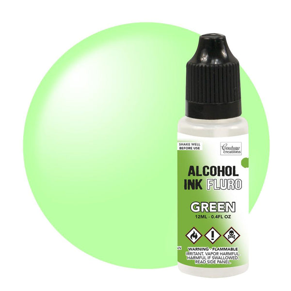 Couture Creations 12ml Green Fluro Alcohol Ink CO727958