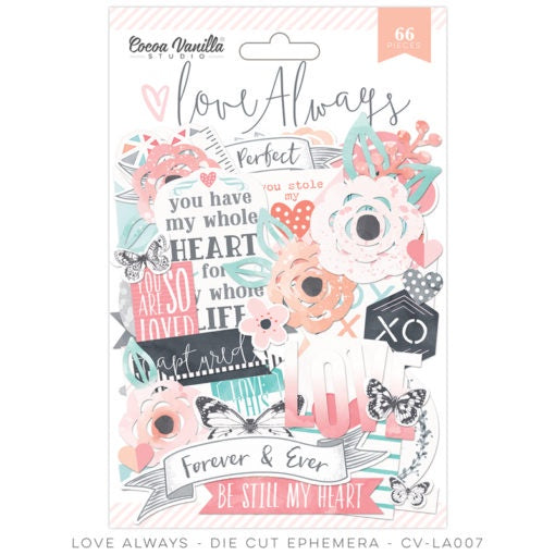 Cocoa Vanilla - Love Always - Die Cut Ephemera (CV-LA007)