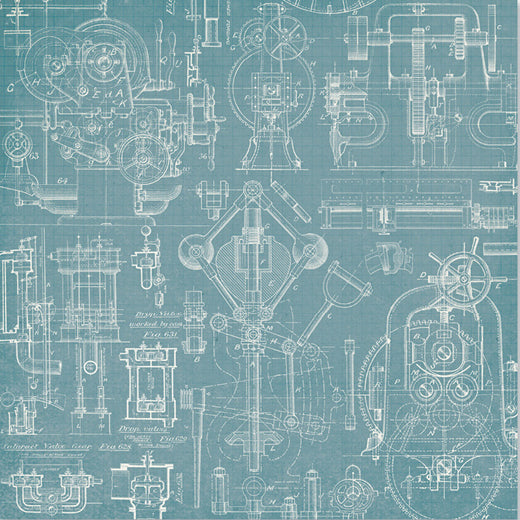 Celebr8 12x12 d/s Patterned Paper - Working Man - Protective PP3603