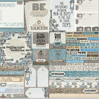 Celebr8 12x12 d/s Patterned Paper - Working Man - The Man PP3606