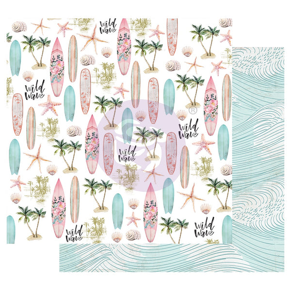 Prima Surfboard Collection Patterned Paper Wild Wave  (849498)