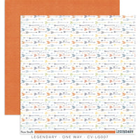 Cocoa Vanilla Legendary 12x12 Patterned Paper - One Way CV-LG007