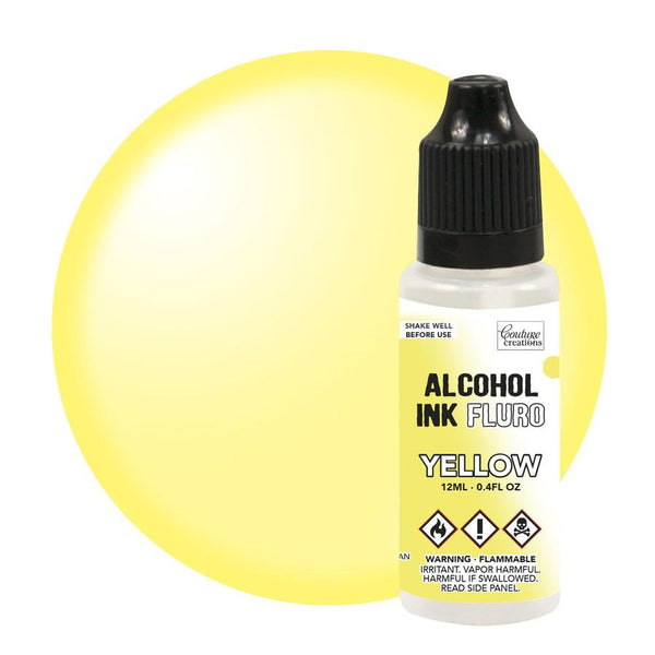 Couture Creations 12ml Yellow Fluro Alcohol Ink CO727951