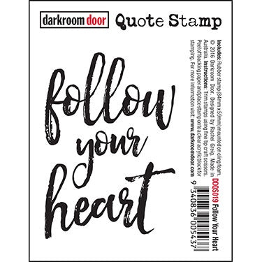 Darkroom Door - Quote Stamp - Follow Your Heart (DDQS019)