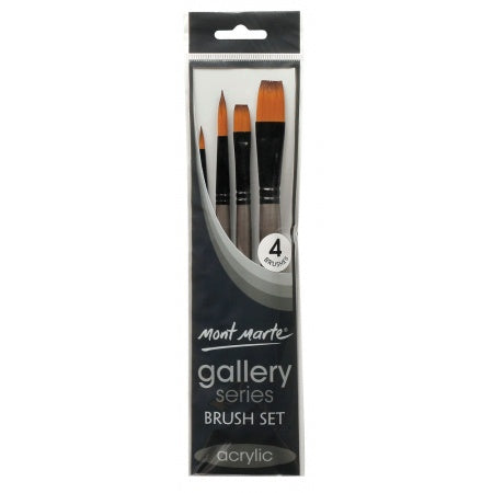 Mont Marte Gallery Series 4 piece Acrylic Brush Set (BMHS0014)