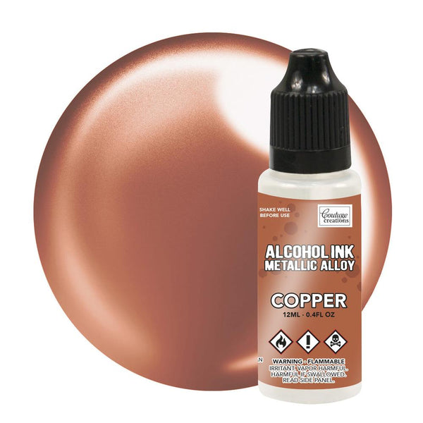 Couture Creations 12ml  Copper Metallic Alloy Alcohol Ink CO727879