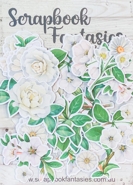 Redwood Farm Colour-Cuts - Redwood Florals (33 pieces) Designed by Alicia Redshaw Exclusively for Scrapbook Fantasies