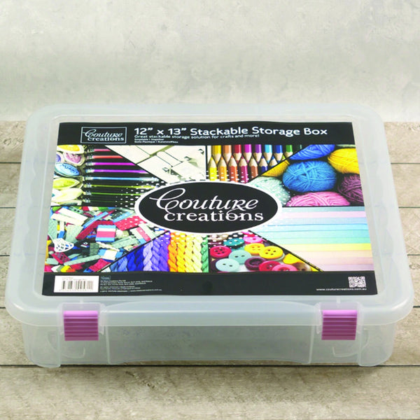 "Couture Creations 12""x13"" Stackable Storage Box CO721952"