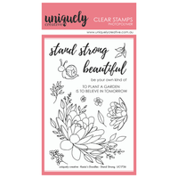 Uniquely Creative - Clear Stamp - Stand Strong Bloom (UC1735)