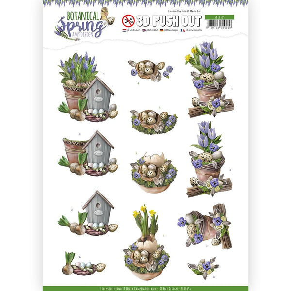 Amy Design - Botanical Spring - 3D Push Out - Spring Arrangement (SB10435)