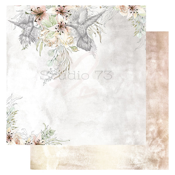 Studio 73 A Sketchers - Hummingbird 12x12 d/s Patterned Paper 557355