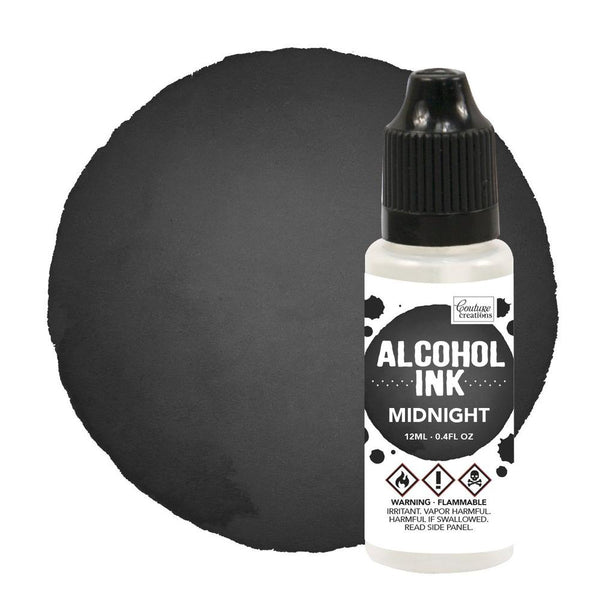 Couture Creations 12ml Pitch Black/Midnight Alcohol Ink CO727322