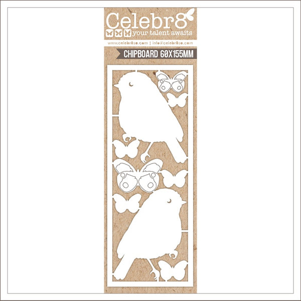 Celebr8 Ivory Chipboard - You are Amazing - Birds & Butterflies MB1611