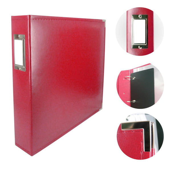 Couture Creations Classic Superior Leather Album Red CO725396