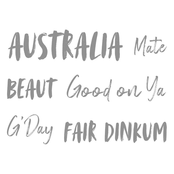 Couture Creations - Mini Stamp -Sweeping Plains - Fair Dinkum Sentiment CO727989