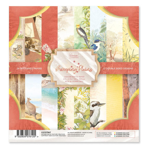Couture Creations - Sweeping Plains 6.5 x 6.5in Paper Pad (CO727967)