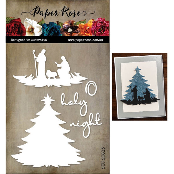 Paper Rose Cutting Die Nativity Tree 20613