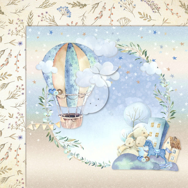 LemonCraft - Boy's Little World 12 x 12 Scrapbook Paper 03 (LEMBLW03)