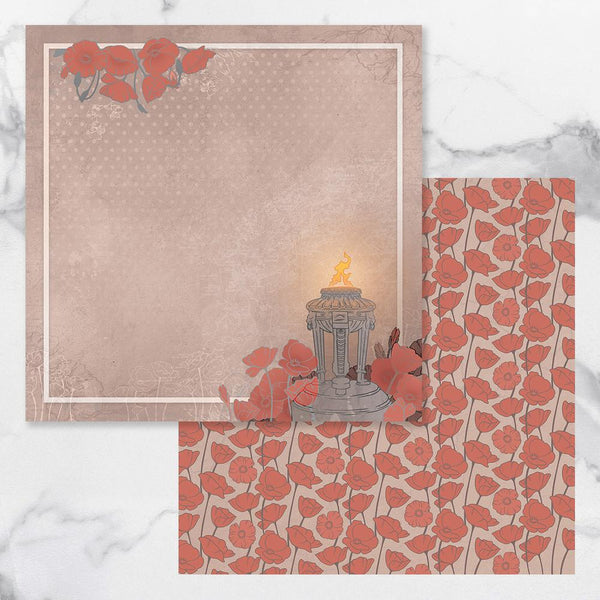 Couture Creations Lest We Forget Double Sided Patterned Paper 1 CO727675