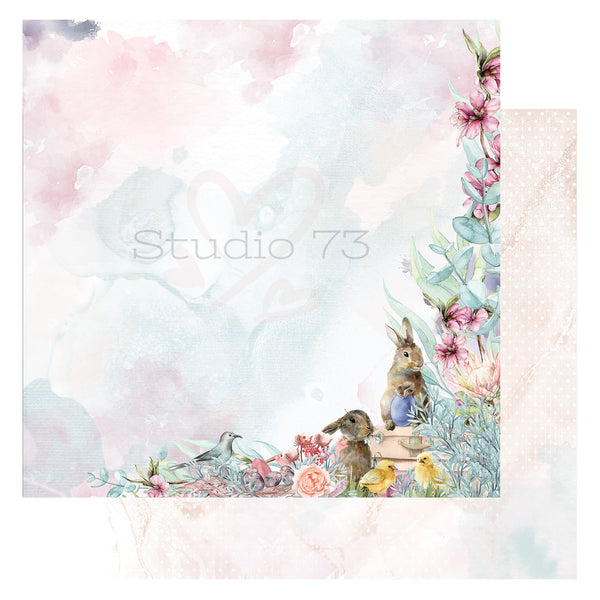 Studio 73 A Touch of Spring - Spring Fling 12x12 d/s Patterned Paper 557321