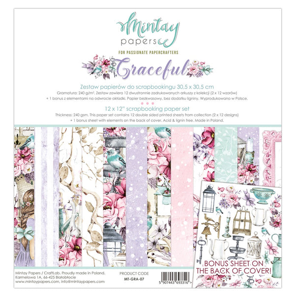 "Mintay Graceful 12""x12"" Collection Pack MT-GRA-07"